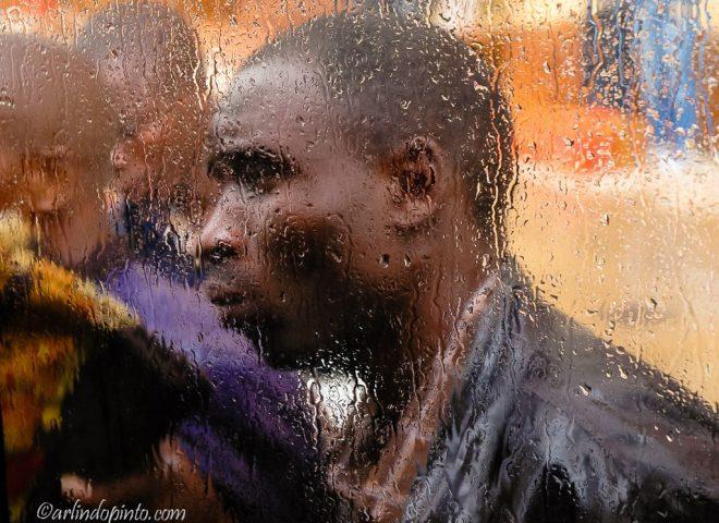 Salesman In The Rain